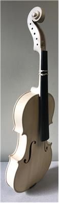 "5-String White Viola, 15 1/2""  Strad Model"