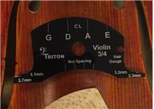 Violin Deluxe Set-up Template, 3/4 size