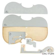 Herdim 5-pc. Violin Template Set, Guarneri Plowden 1735